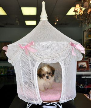 Princess Dog House White And Pink Cute Dog Beds Dog Bed Pet Beds