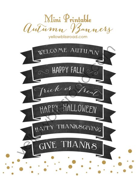 A Welcome Autumn Breakfast with Free Printable Mini Chalkboard
