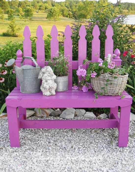 Diy Picket Fence Garden Bench Spring Pinterest Garten Ideen