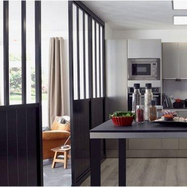 une cloison d co pour s parer sans assombrir s parer verri re et la cuisine. Black Bedroom Furniture Sets. Home Design Ideas