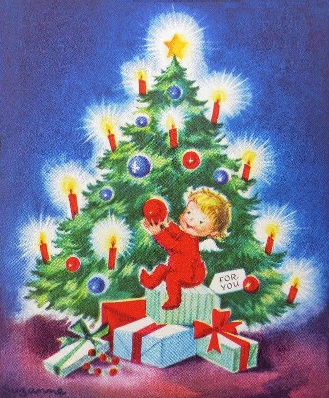 Old Christmas Post Cards — (661x800)
