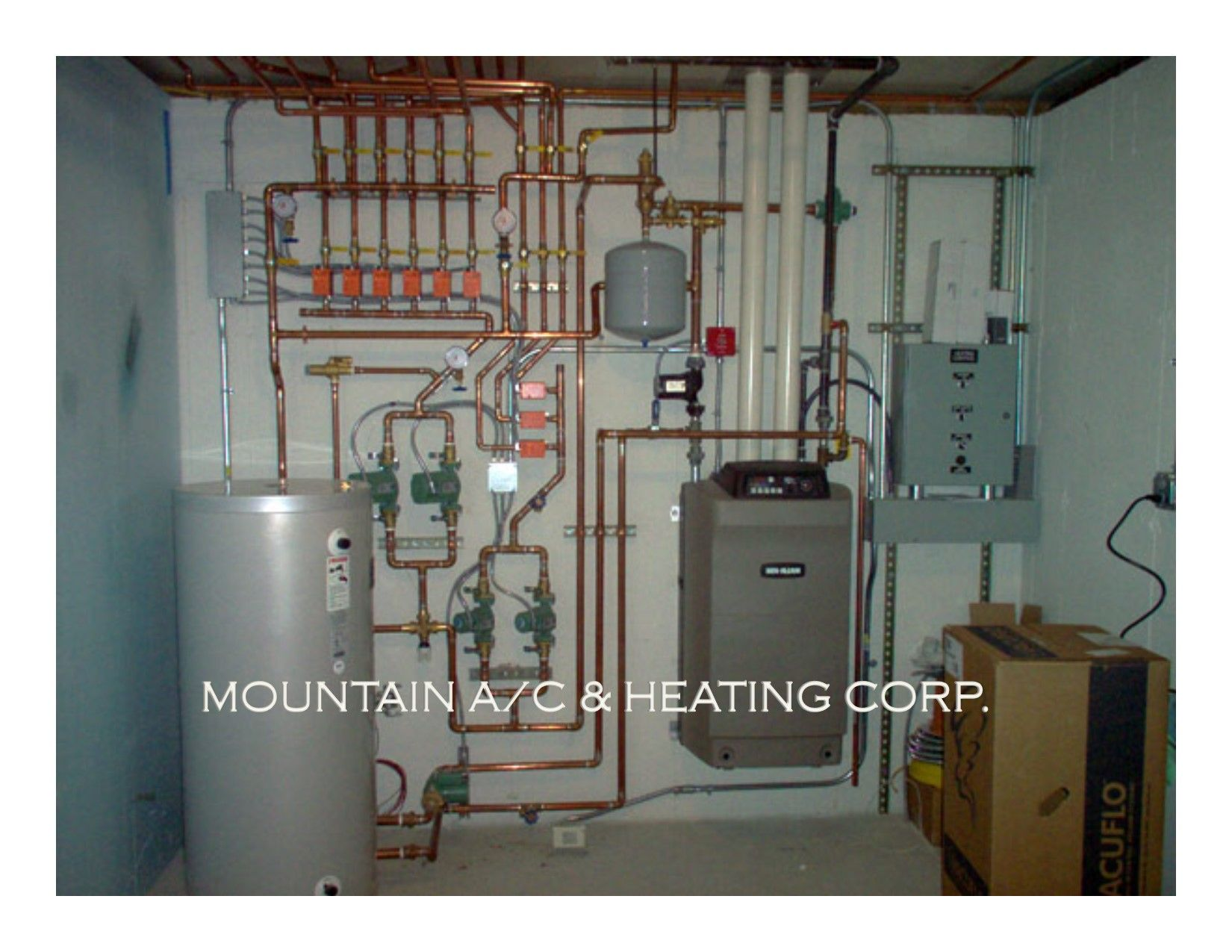 Full wall install Mountain Air Conditioning u Heating Corp