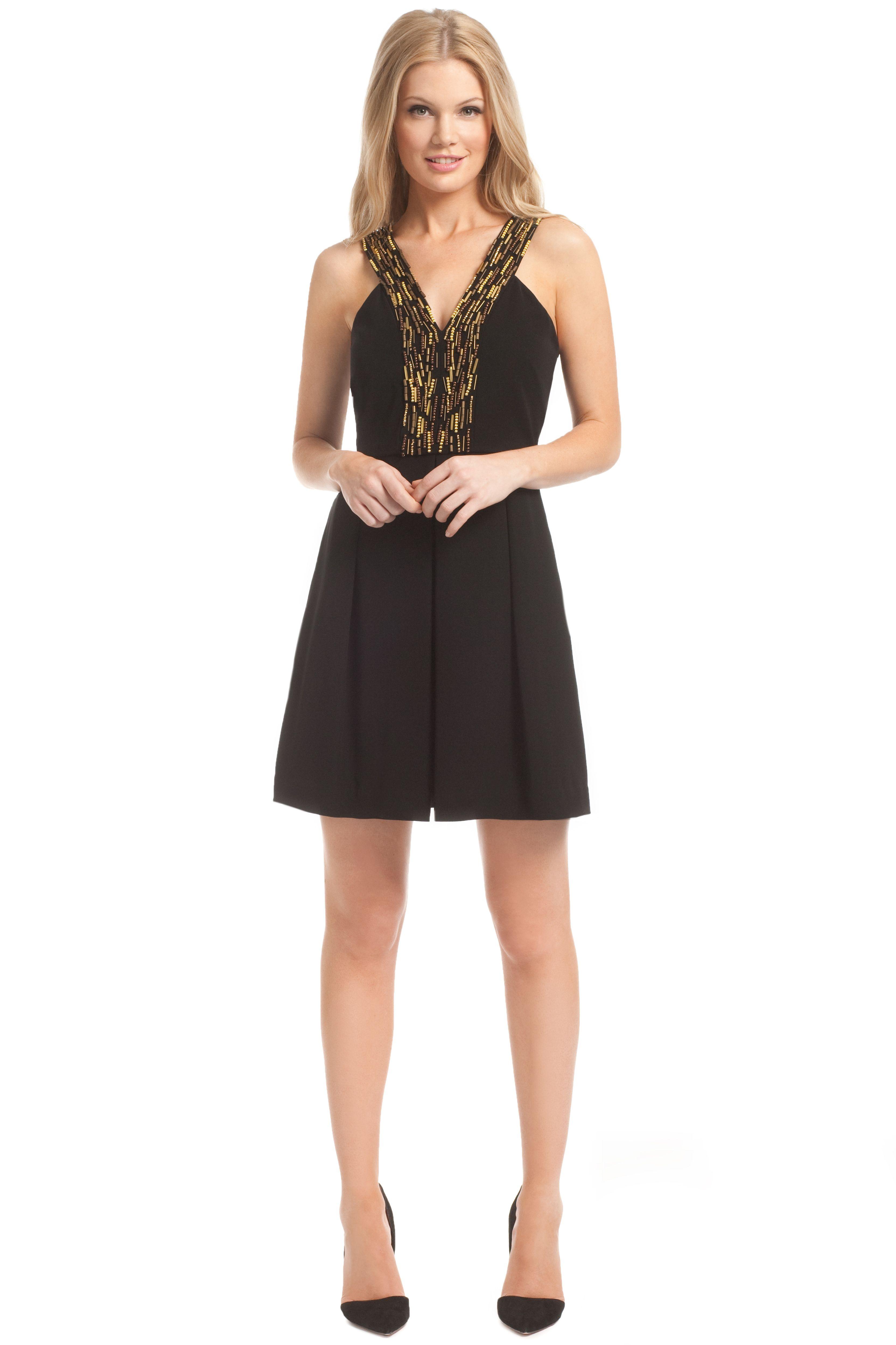Black Satin Back Crepe Beaded Penny Dress Fashion Little Black Dress Dresses [ 4992 x 3328 Pixel ]