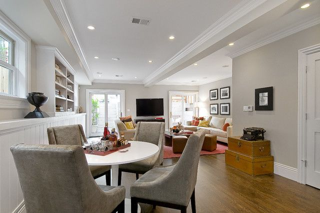 Edge Comb Grey Family Room Traditional Family Room With Images