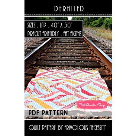 Derailed Downloadable PDF Quilt Pattern Frivolous Necessity