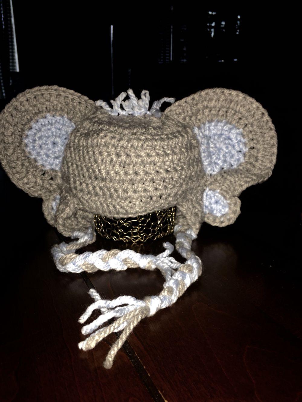 Baby Elephant Beanie | Crochet hats, Baby elephant, Beanie