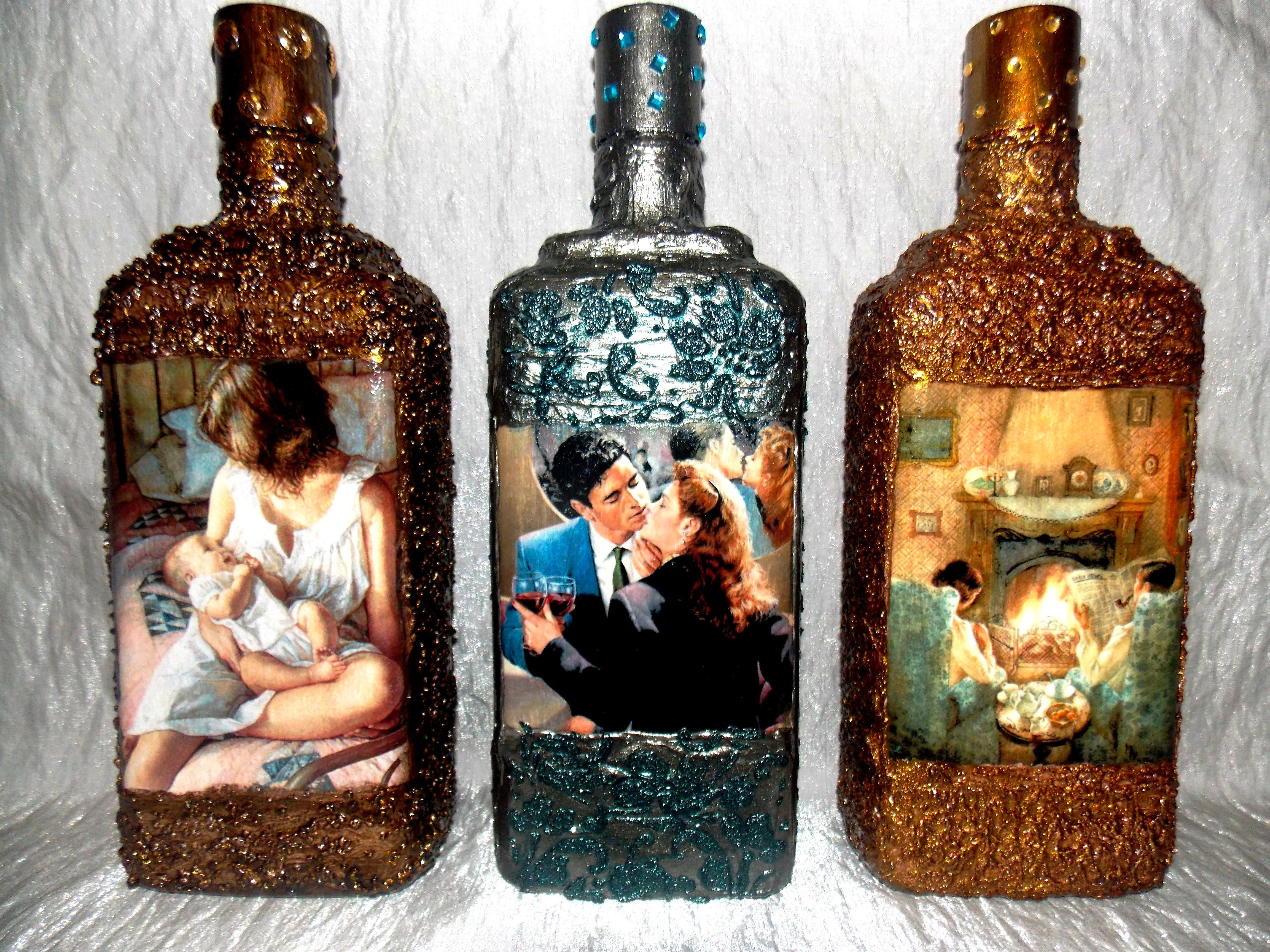 викинге, картинки декупаж бутылок и банок корок основании ресниц
