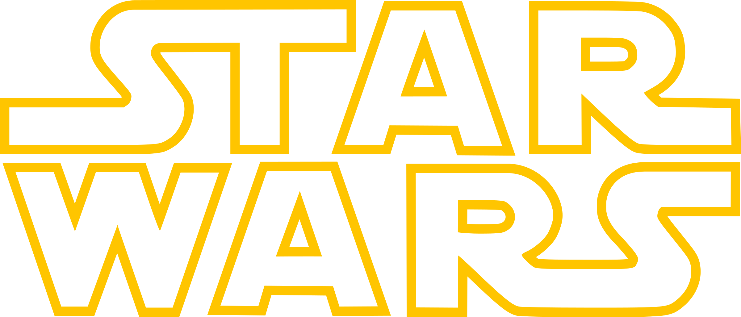Star Wars Logo Outline PNG transparent (With images