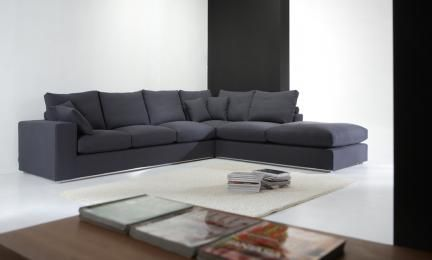Sectional Couches Sectional Sofa With High Density Foam Wrapped With Goose Down Feather Mejoras En El Hogar Hogar Moderno