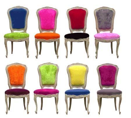 colores tapizados sillas