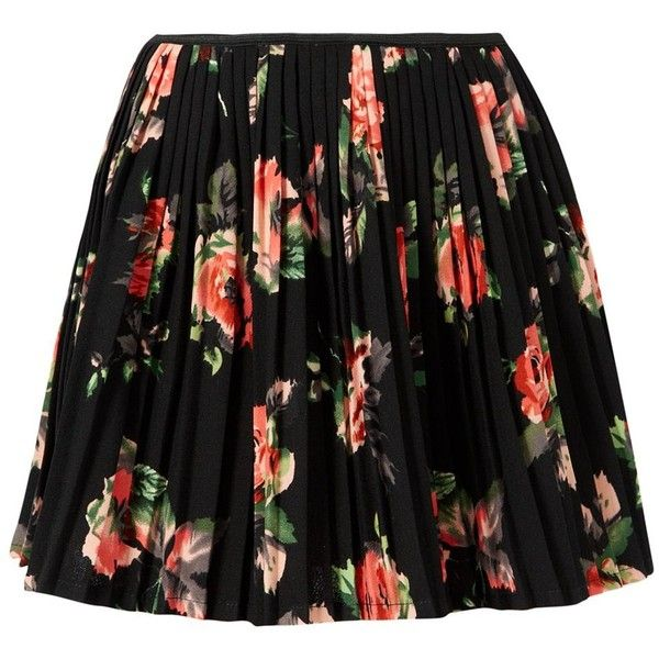 Petite Black Floral Print Skater Skirt (€9,49) ❤ liked on Polyvore featuring skirts, bottoms, saias, faldas, petite, black skirt, floral skirt, skater skirt, black circle skirt and petite skirts