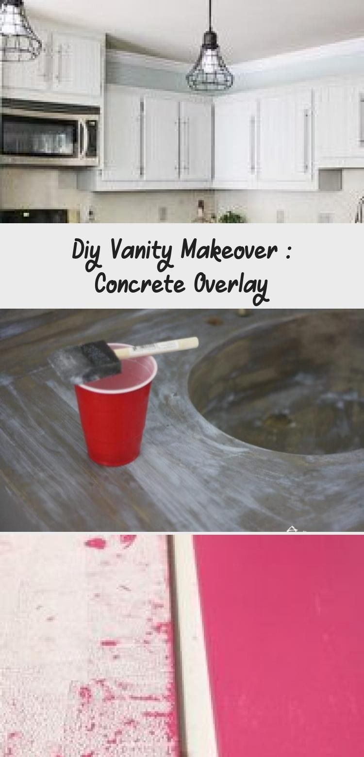 Diy Vanity Makeover : Concrete Overlay   Diy vanity ...