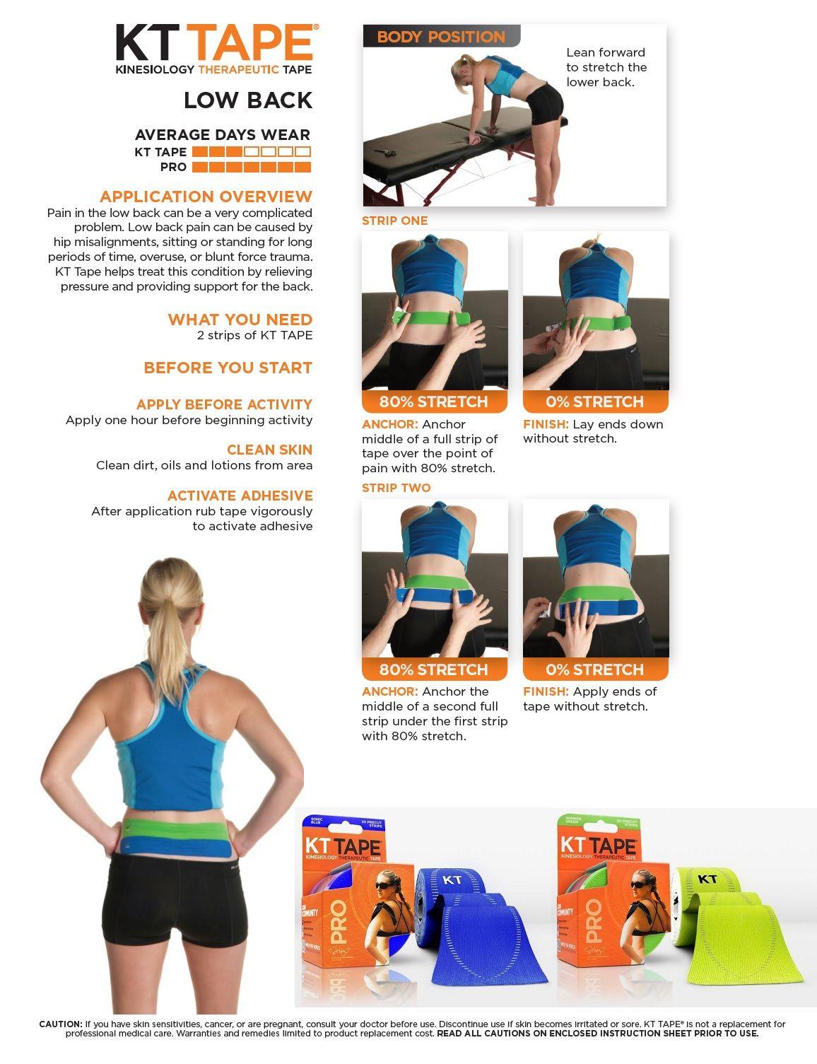 Kt Tape For Lower Back Pain