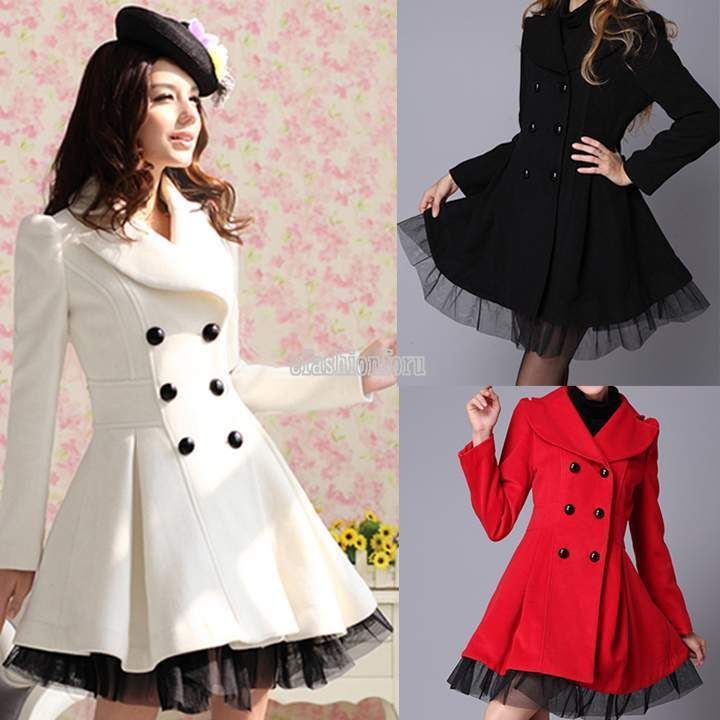 how to buy 2019 original order online Women Dress Jacket Trench Coat Long Double Breasted Fashion ...