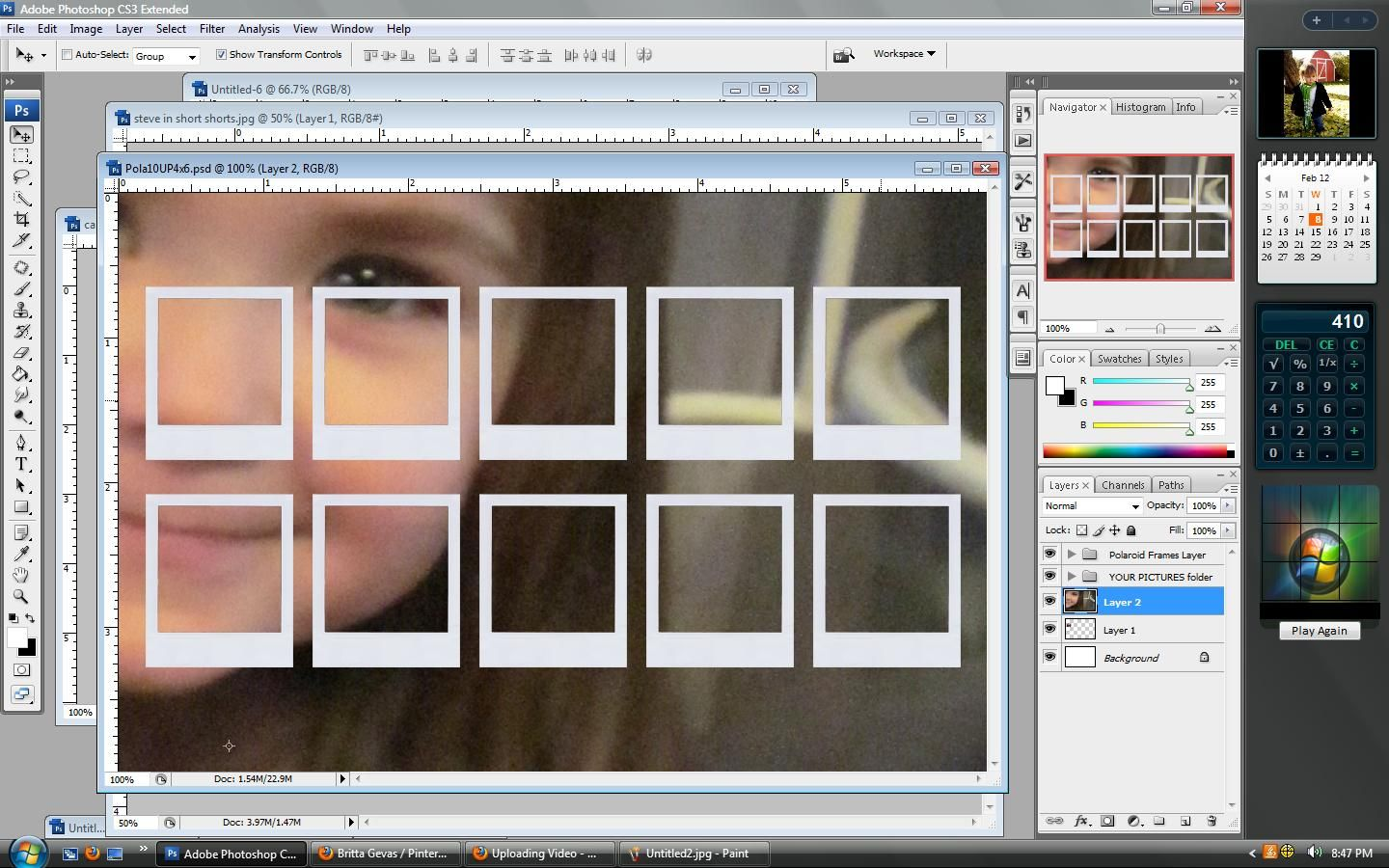 Photoshop Tutorial How To Get Your Pics Into A Template To Make