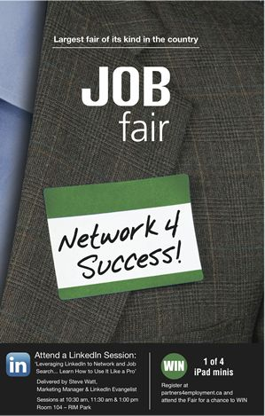 Start Your Career In Joining Jobs Fair  Job Fair Sample Poster