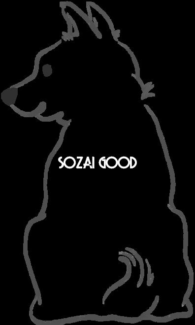 手書き風白黒の犬イラスト 無料 柴犬の後ろ姿807 素材good 犬 イラスト 無料 無料 イラスト イラスト