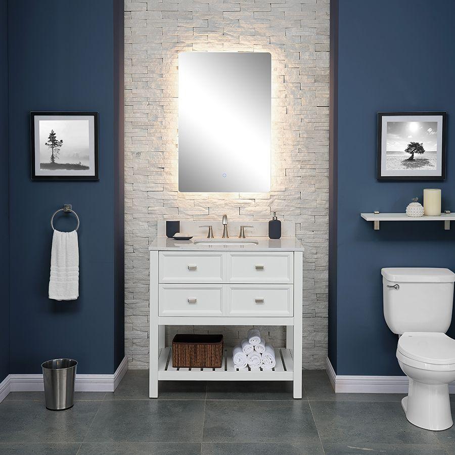 119 small bathroom backlit vertical vanity mirror on lowes vanity id=95749
