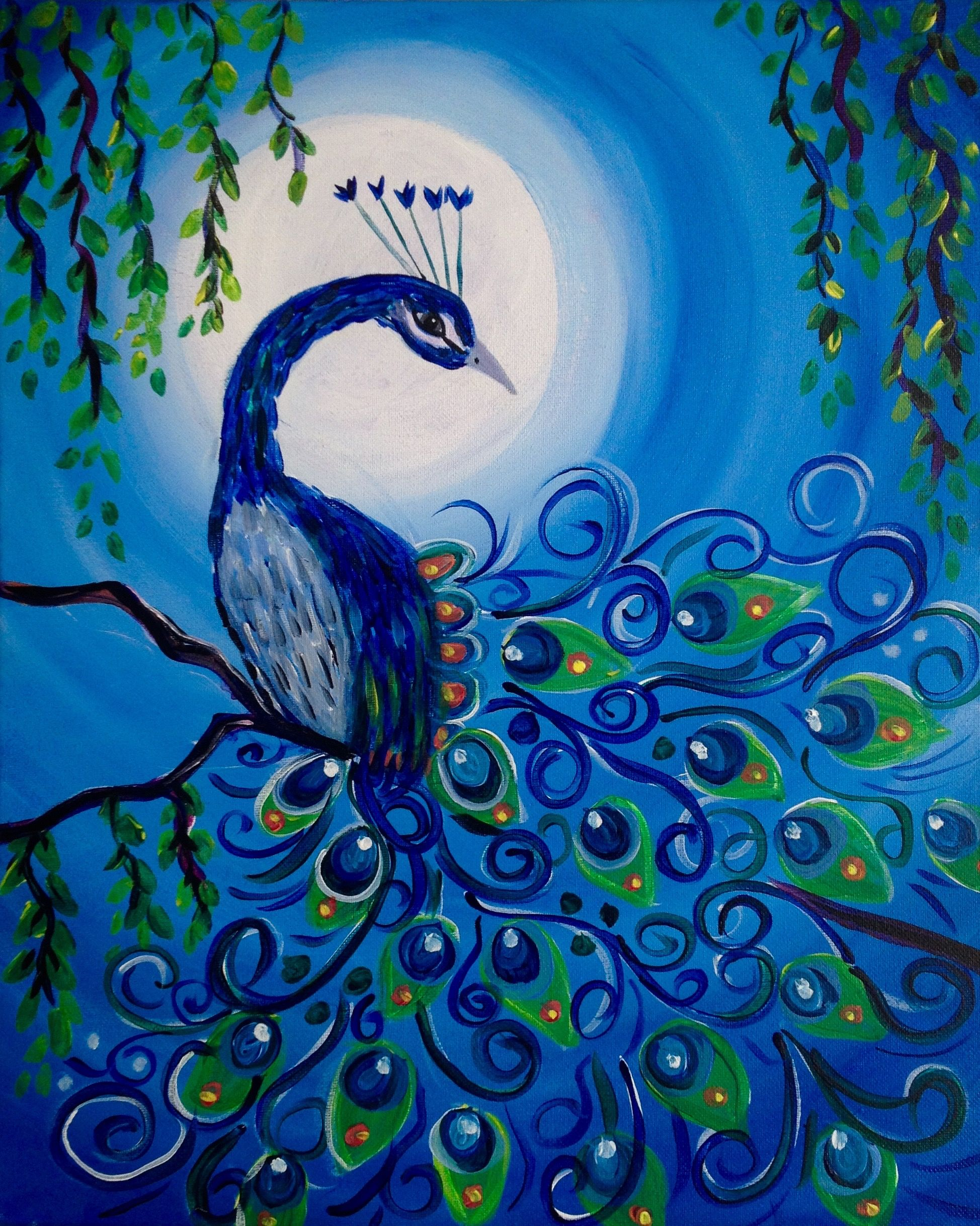 Check out Moonlit Peacock at Mimi's Cafe (Beavercreek) - Paint Nite Event
