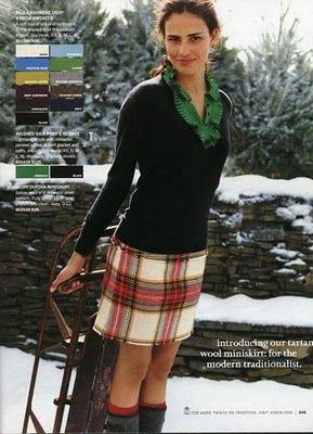 Holiday 2006 The Best Of J Crew The Style Fashion Tartan Mini Skirt Plaid Fashion