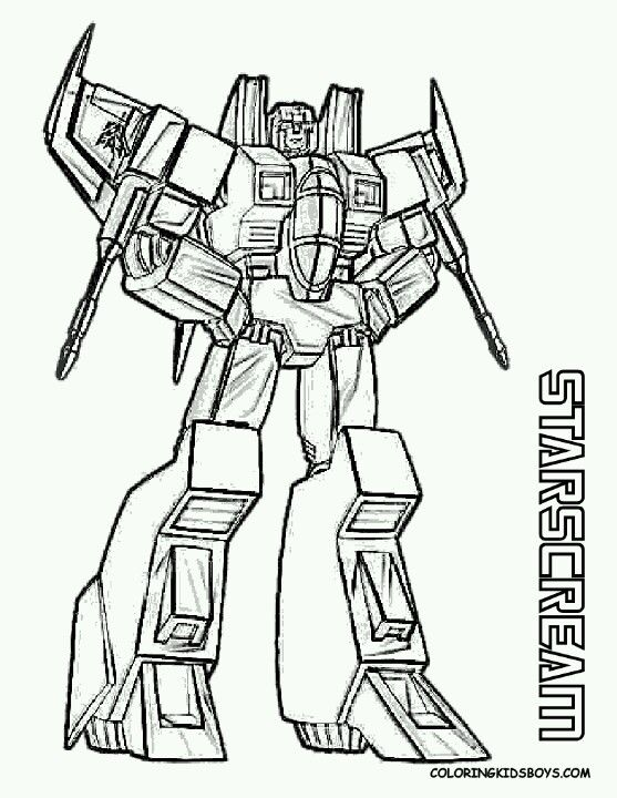 Transformers Starscream Coloring Sheet Transformers Coloring