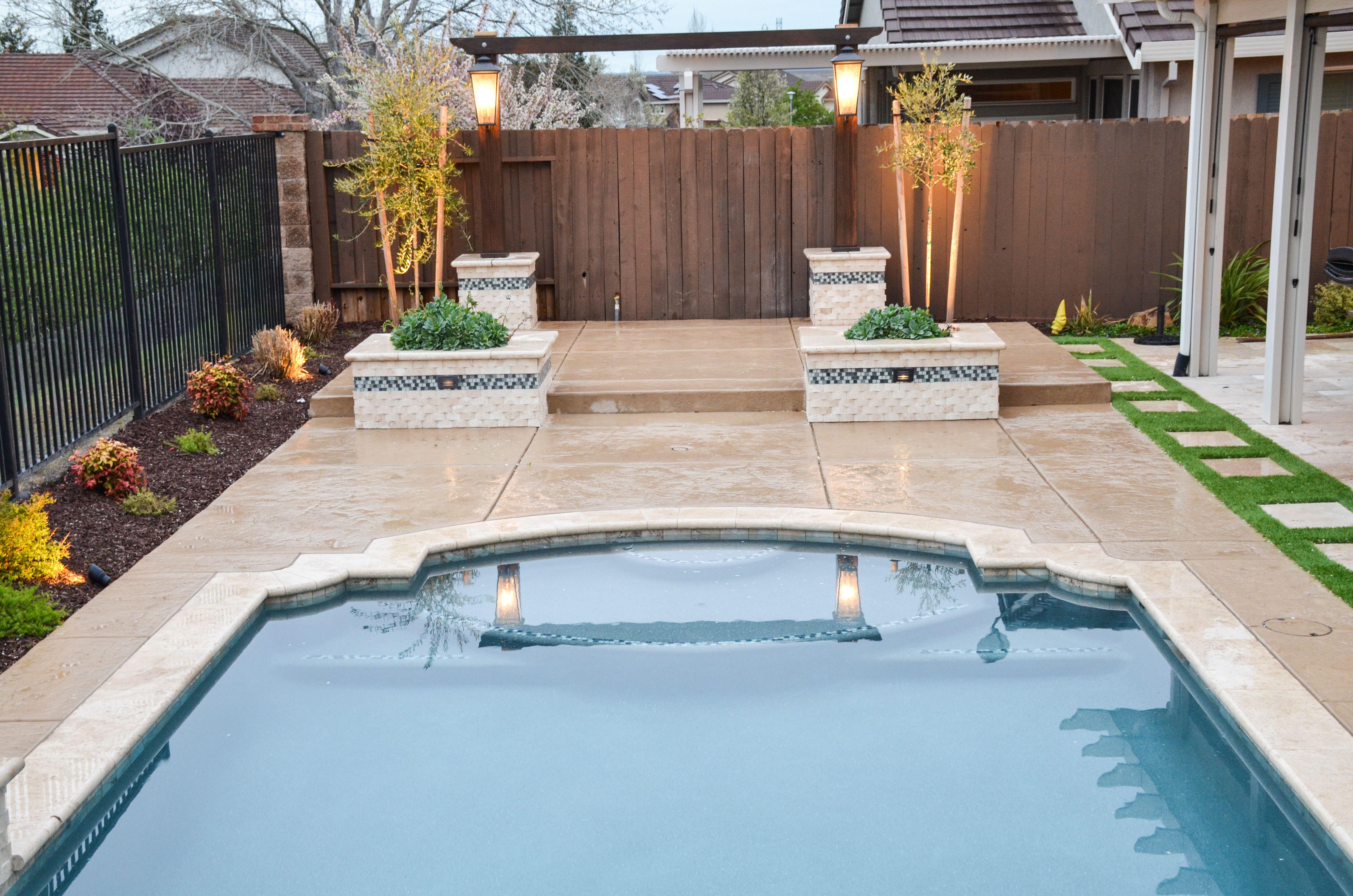 Geometric Pool Design By Premier Pools In Folsom Ca This Pool