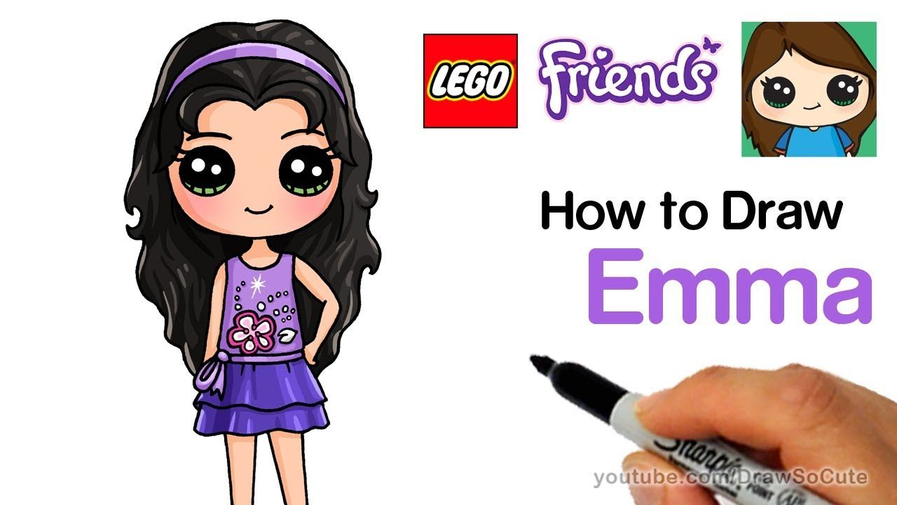How To Draw Lego Friends Emma Easy Youtube With Images Lego