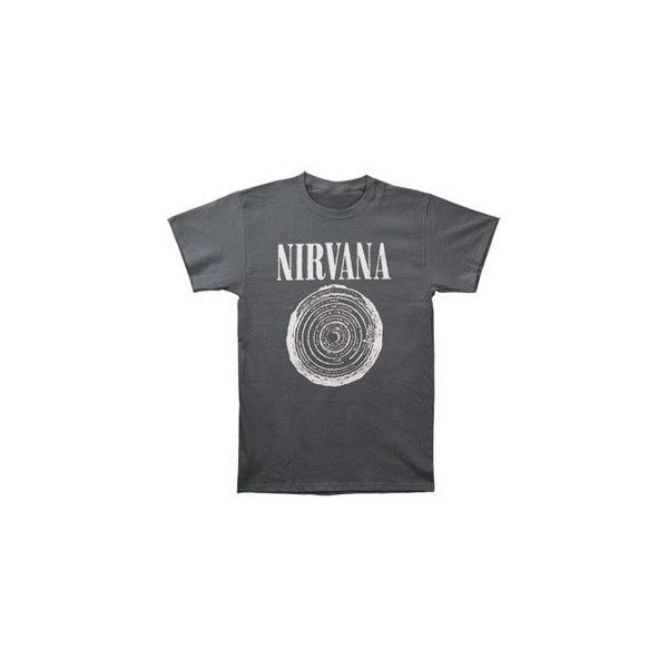 Nirvana Vestibule Over Dyed T-shirt ($19) ❤ liked on Polyvore featuring tops, t-shirts, shirts, tees, t shirts and shirts & tops