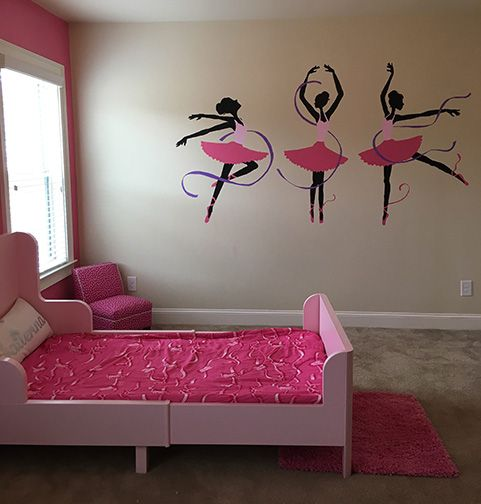 Three Ballerinas Wall Mural Wall murals Ballerina and Walls