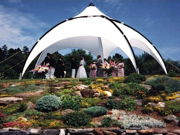 Optidome Party Tents With Elegant Arches And Graceful Curves The Kd Optidome Will Add Class And Elegance To Your Loc Party Tent Forest Backdrops Tent Design