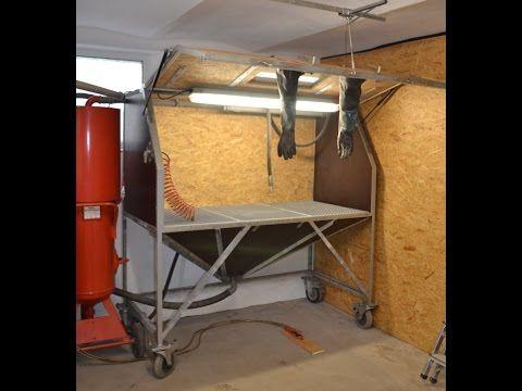 eigenbau sandstrahlkabine sandstrahler diy sandblasting. Black Bedroom Furniture Sets. Home Design Ideas