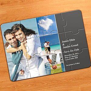einladung kollagepuzzle 4 fotos im quadrat, grau | print it, Kreative einladungen