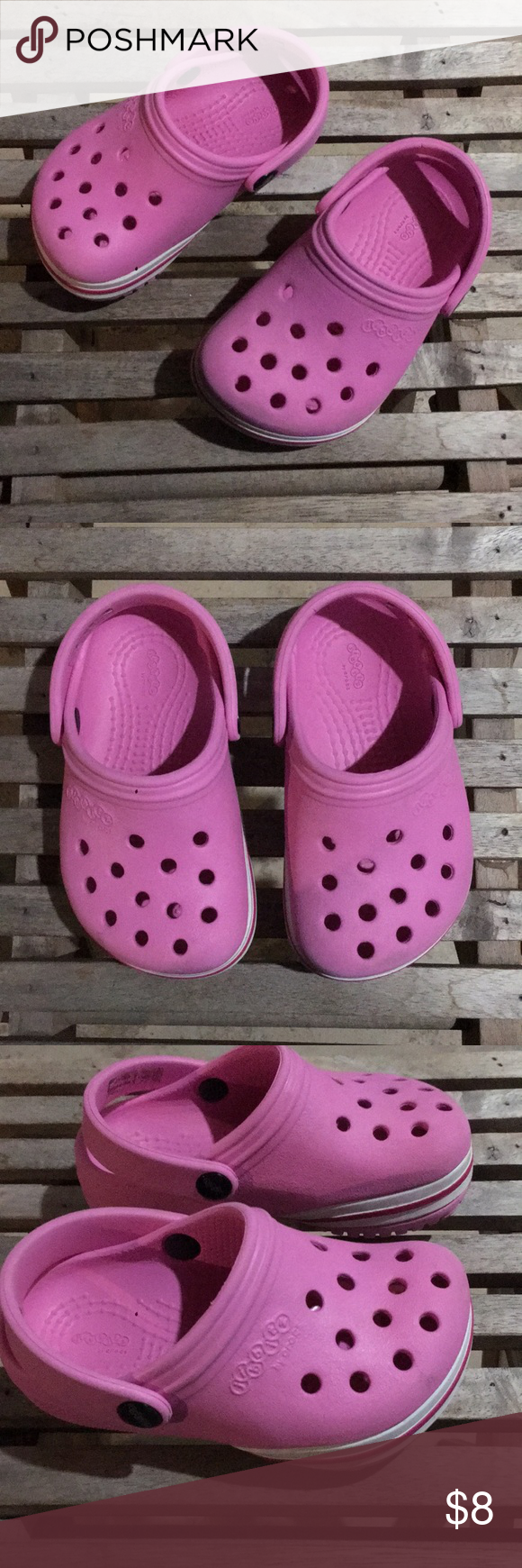 pink crocs size 6