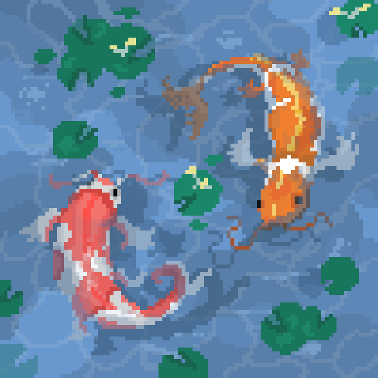 Koi Fish WIP. Thinking of animating this piece, feedback appreciated!