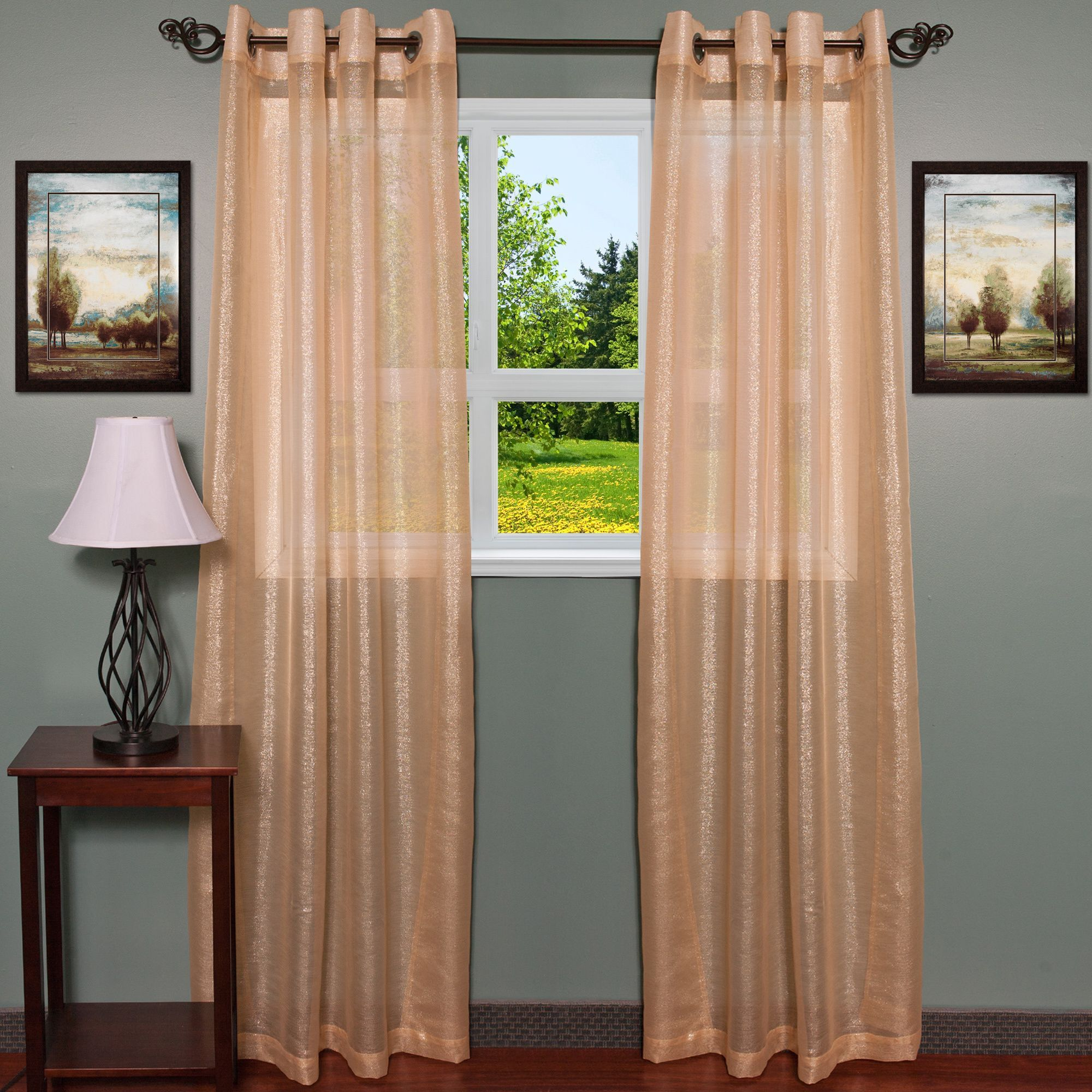 Contemporarytextured Shimmer 55 Inch X 84 Inch Grommet Curtain
