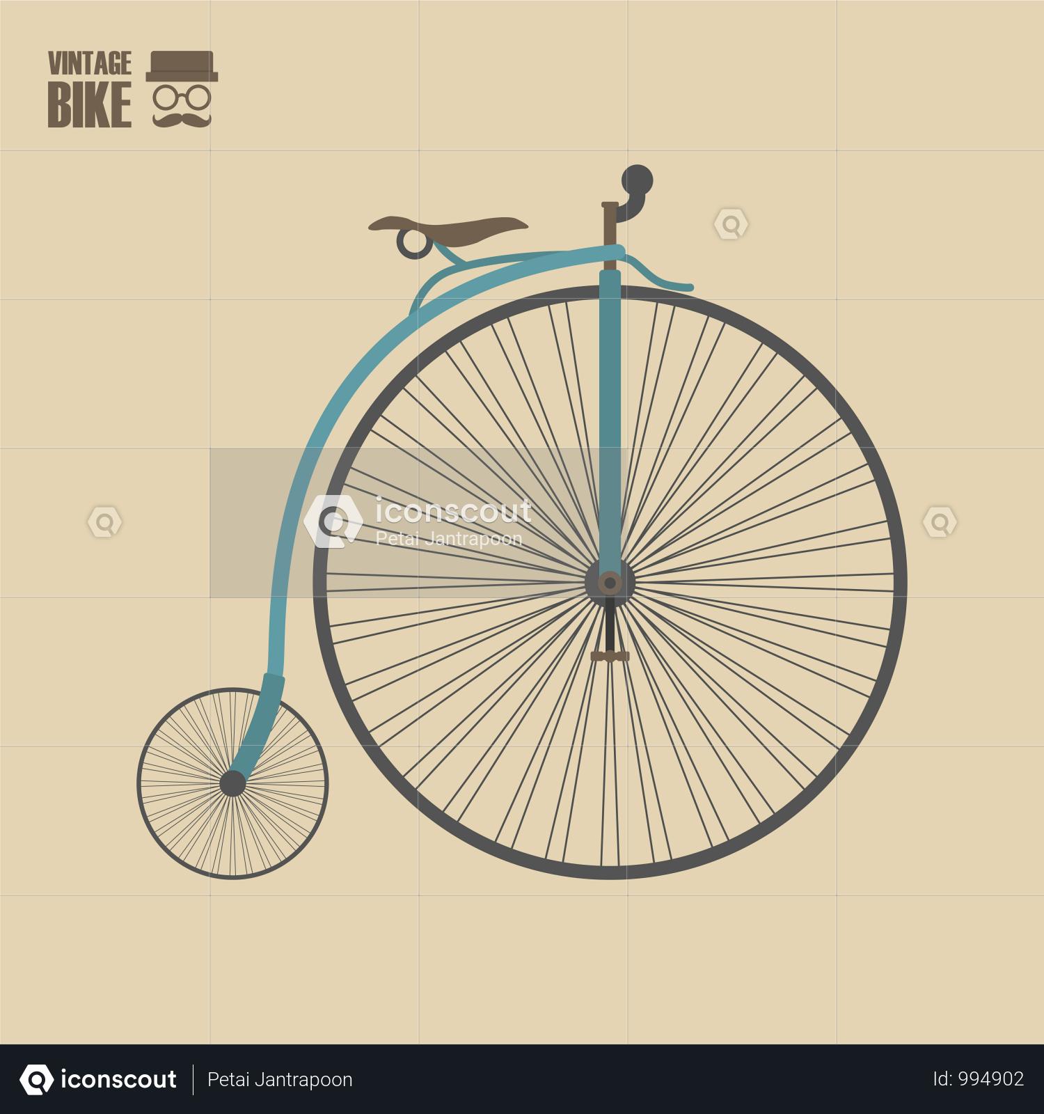 Premium Vintage Bicycle Illustration Download In Png Vector Format Bicycle Illustration Vintage Bicycles Bicycle