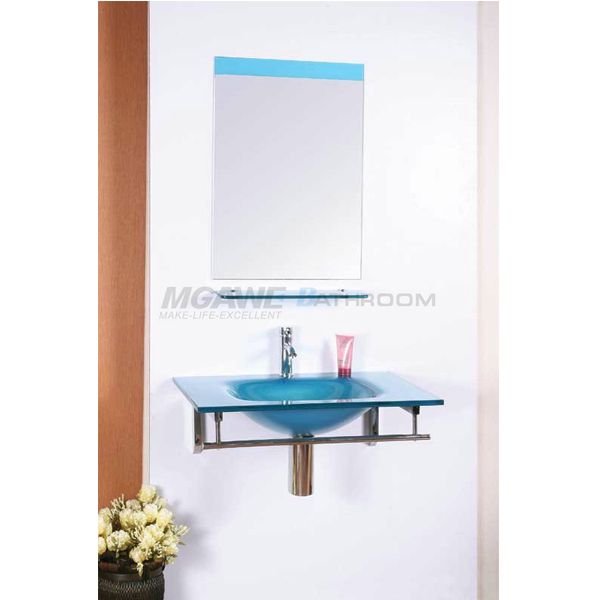 Bathroom Vanity Set Blue Color Rectangle Bathroom Mirror Cheap Price · Vessel  Sink ...