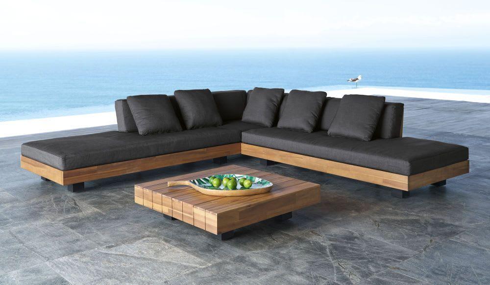 Salon De Jardin 4 6 Places En Bois D Acacia Massif Et Toile Gris Anthracite Salon De Jardin 4 6 Place In 2020 Best Outdoor Furniture Diy Patio Furniture Garden Sofa