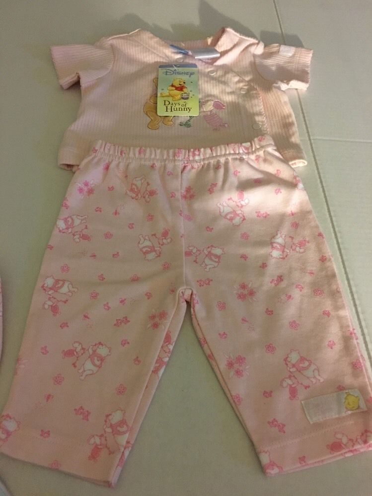 Disneys Days Of Hunny Girls 4 Piece Pant Set. 0-3 Months #Disney #DressyEveryday