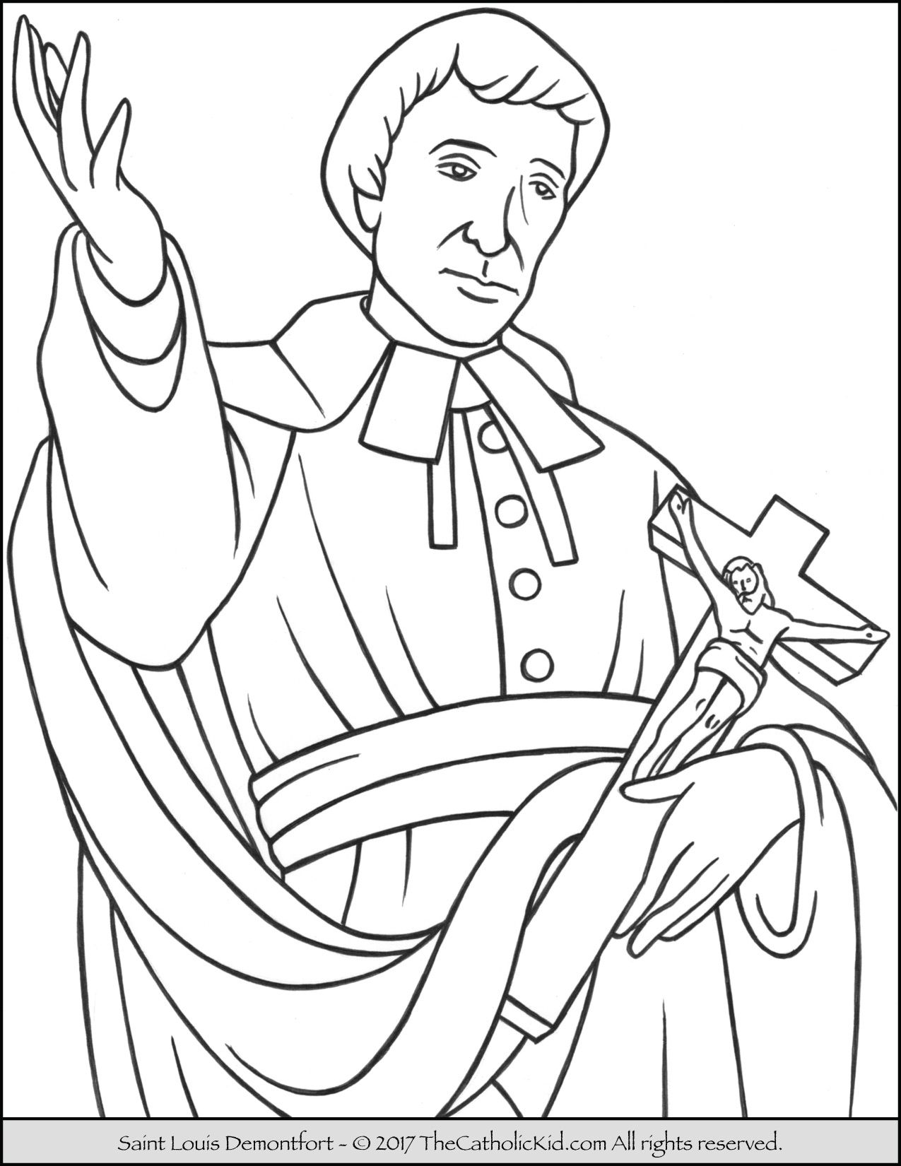 Saint Luis De Montfort Coloring Page. Feastday: April 28 Birth: 1673 ...