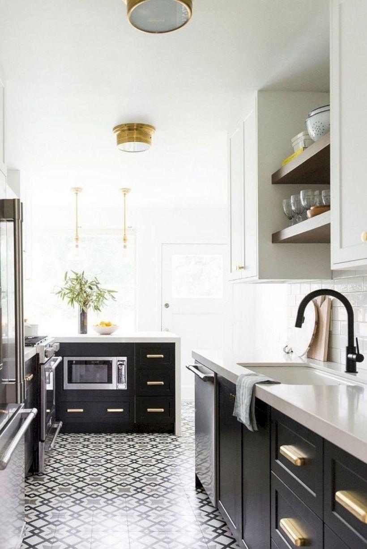 Elegant Black And White Kitchen Design Ideas 51 Galley Kitchen Design Kitchen Backsplash Trends Kitchen Design Trends