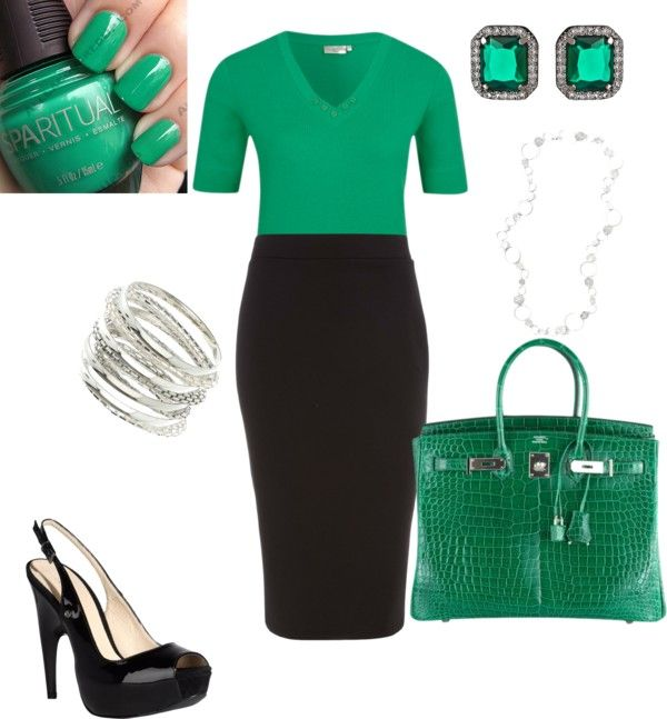 Sophisticated Emerald, created by chantelles69 on Polyvore