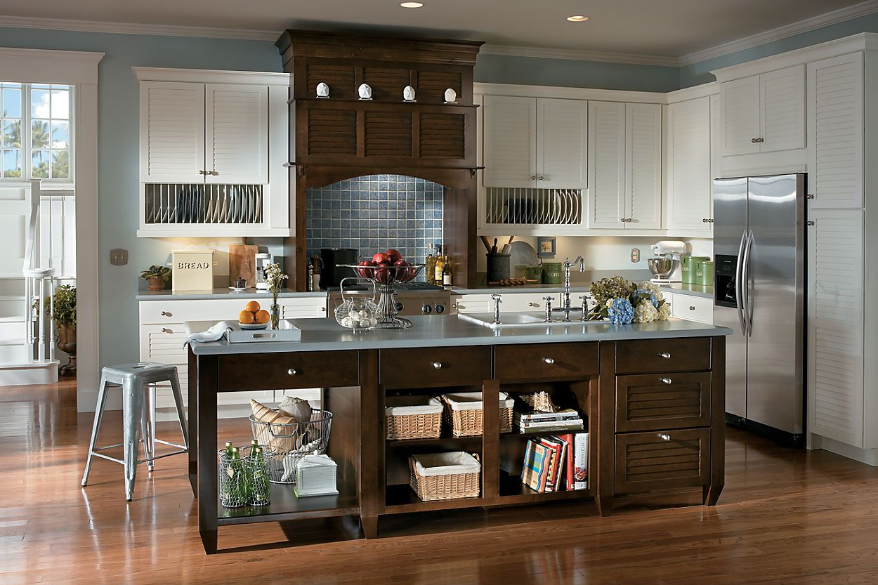 Lowes Walnut Kitchen Cabinets Schuler Cabinetry Exclusive At Lowe 39s Key Largo Maple
