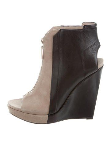 Derek Lam 10 Crosby Wedge Round-Toe Booties