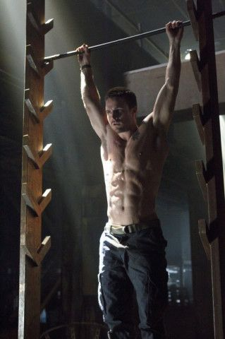 American Ninja Warrior Workout and Shirtless Guy Stephen Amell