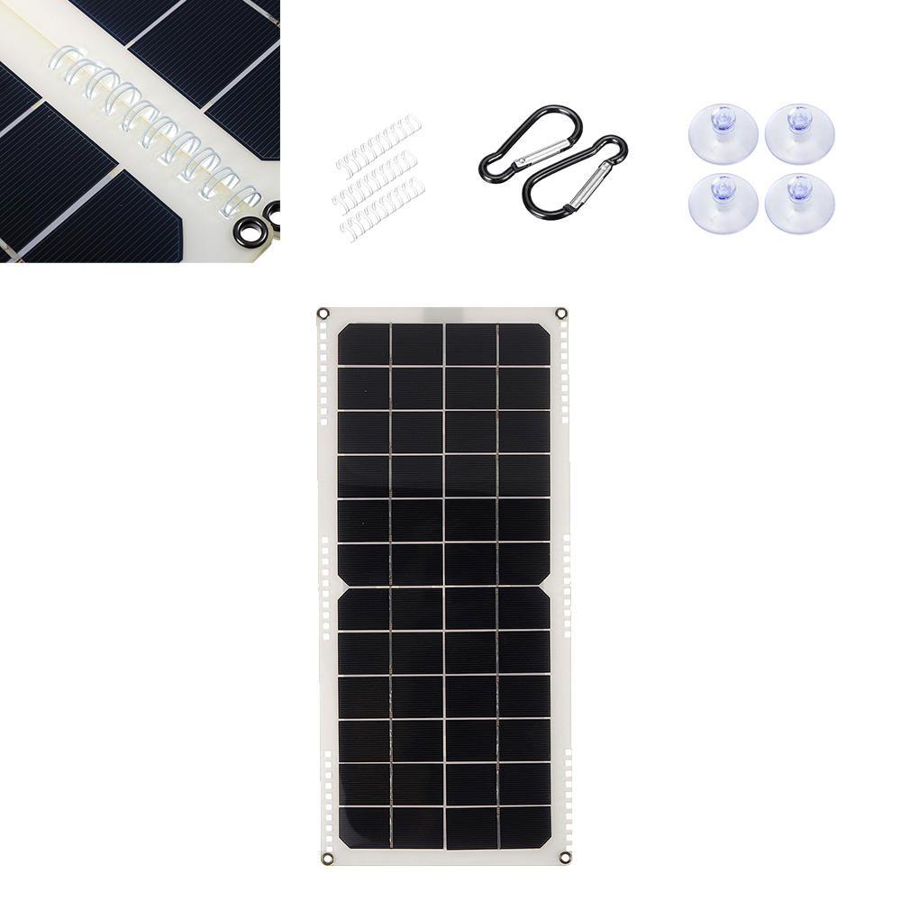 10w 14v Monocrystalline Silicon Semi Flexible Solar Panel With 3 X Spring Suppport 5v Single Usb 12v Dc Rear Junction Solar Panels Solar Junction Boxes