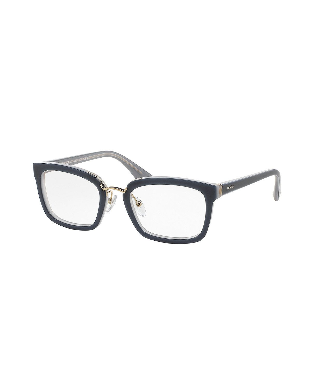 Eyeglass Frames For Gray Hair : Square Fashion Glasses, Blue Gray Hair & Glasses ...