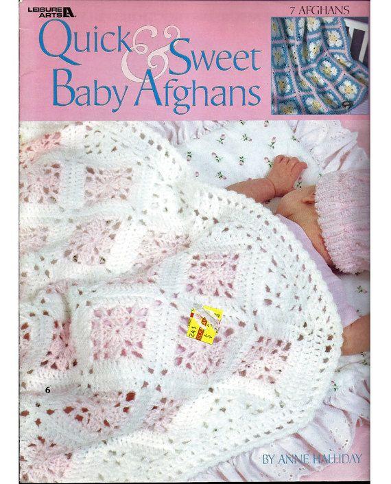 Los afganos rápido y dulce bebé ganchillo patrón ocio artes folleto ...