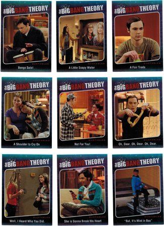 Big Bang Theory Season Five Quotables Complete 9 Card Chase Set @ niftywarehouse.com