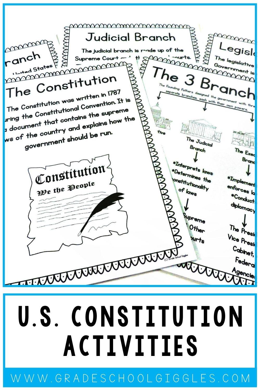 Constitution Activities For Kids Third Grade Activities Social Studies Elementary Elementary Learning [ 1500 x 1000 Pixel ]
